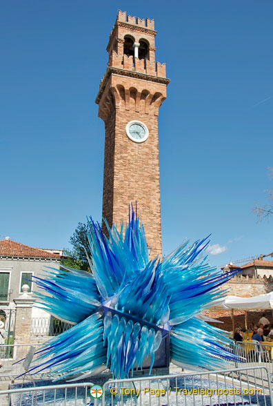 The main feature on Campo Santo Stefano is the old clock tower