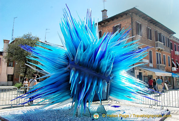 Glass artwork in Campo Santo Stefano