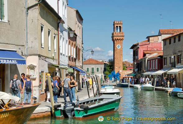 View towards Campo Santo Stefano, the Murano main square