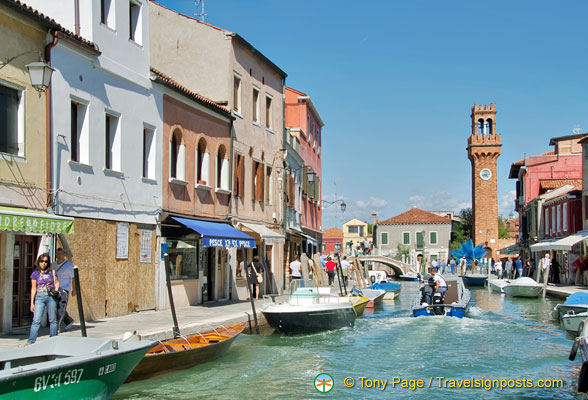 View of Murano clock tower