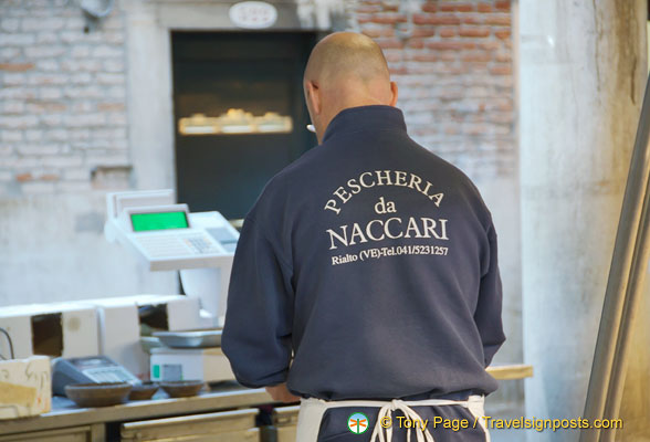 Pescheria da Naccari - one of the fish stalls