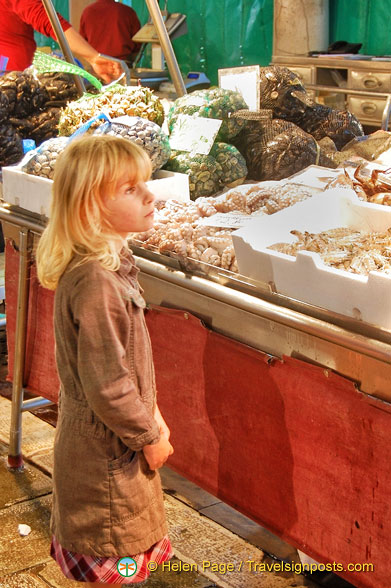 Even the young are mesmerized at the Rialto fish market