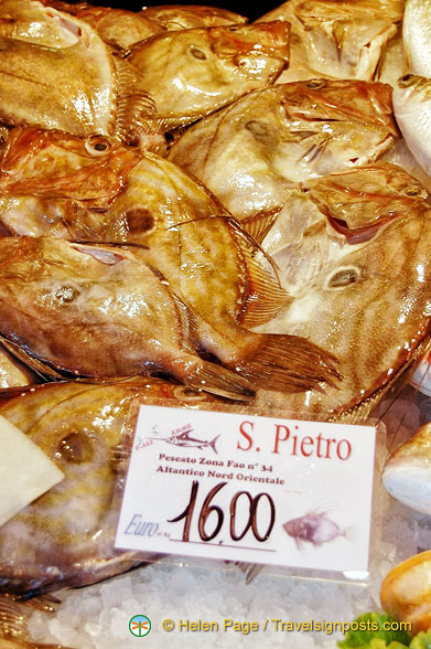 We had San Pietro the night before and didn't know what it was - turns out to be John Dory.