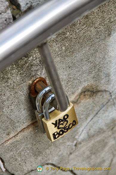 Someone's started a love lock fad here