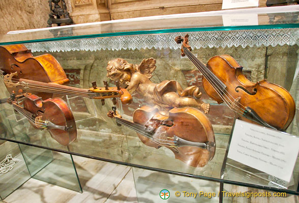 Instruments by famous musical instrument makers such as Paolo and Carlo Testore and B. Obici
