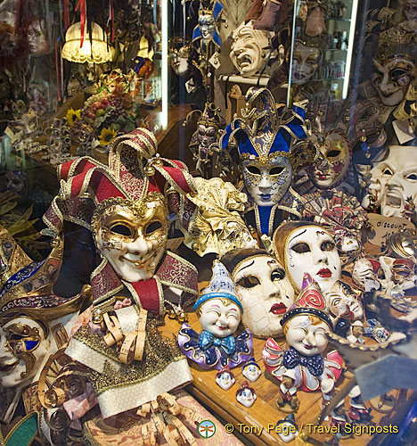 A great Venetian mask shop in San Polo
