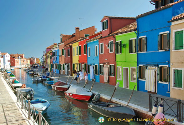 The many boats of Burano's fishermen