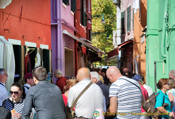 Around San Mauro quarter - a very busy section of Burano