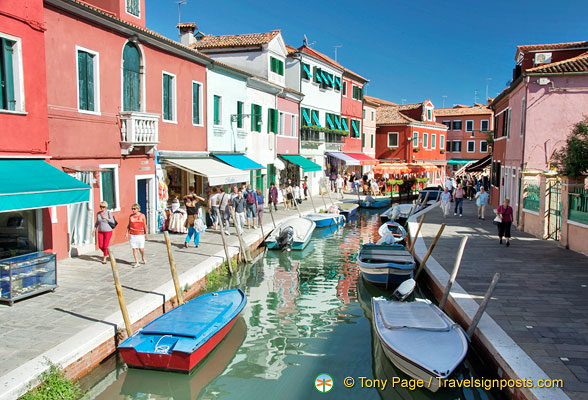 Exploring Burano's waterways and shops