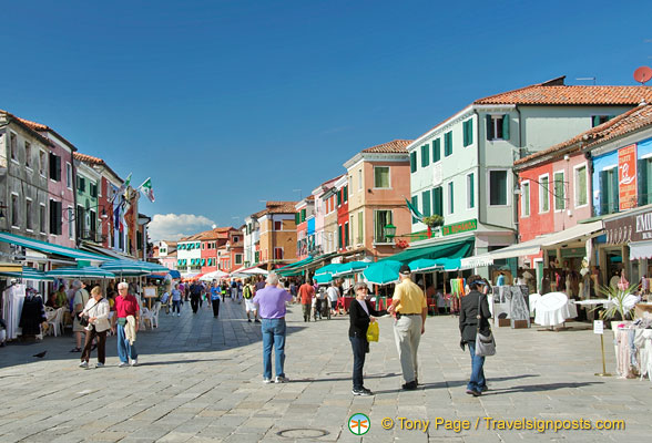 via Galuppi, the main street in Burano