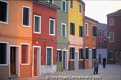 Via Baldassare Galuppi, Burano's main thoroughfare is named after its famous composer