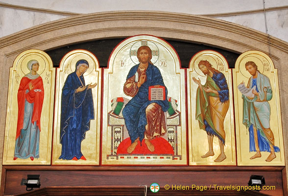 Icon painting in San Geremia