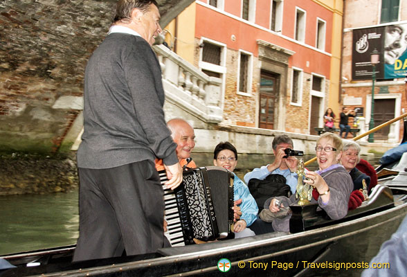 Musicians in the next gondola