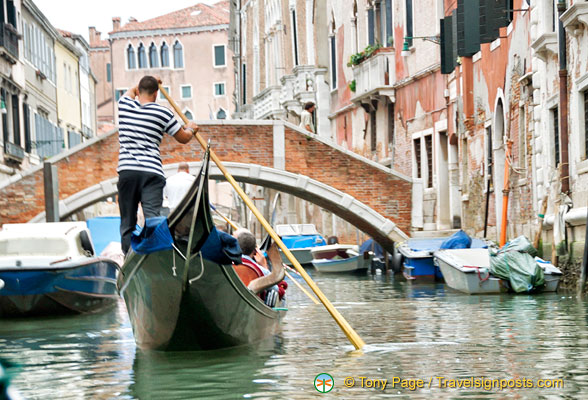 Gliding around the back canals of Venice