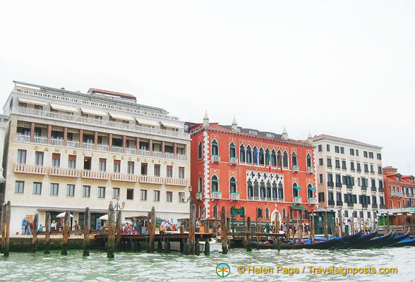 The three Danieli hotels on Venice Grand Canal