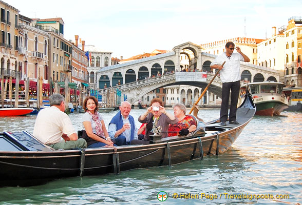 In front of the Rialto Bridge - what a sight!