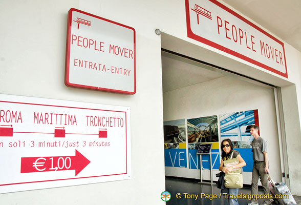 Entrance to the People Mover on Piazzale Roma