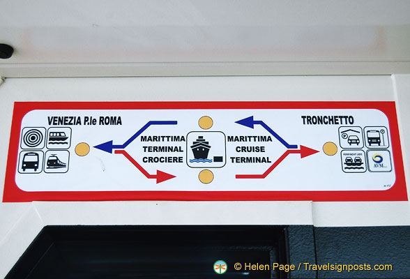 People Mover route map from Piazzale Roma to Tronchetto