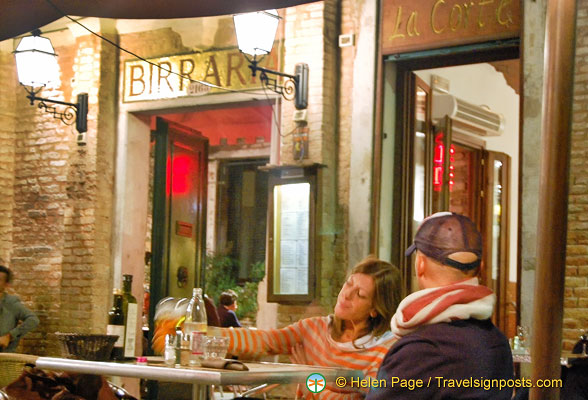 Al fresco dining at Birraria La Corte