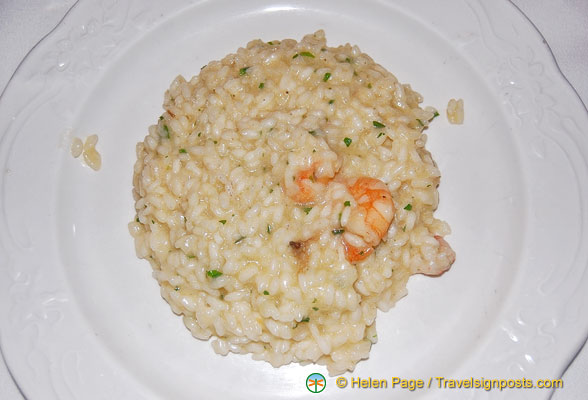 The seafood risotto at Antico Pignolo is tasty