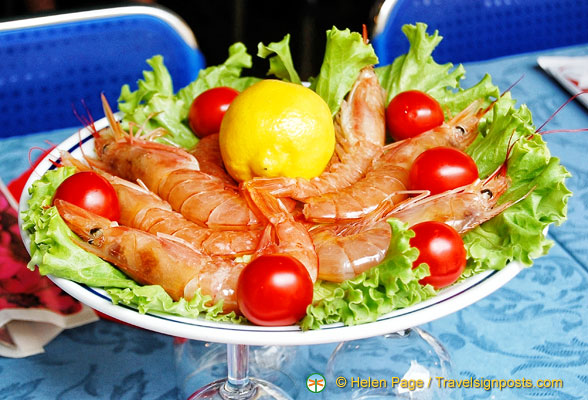 A nice plate of king prawns