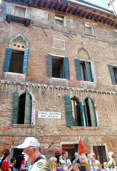 Corte Seconda del Milion - many think this is Marco Polo's house, but it is not!