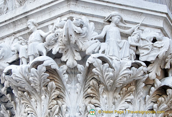 One of the capitals of the Doge's Palace