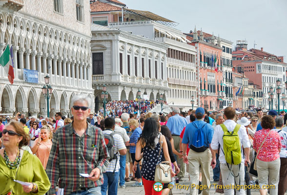 Riva degli Schiavoni - one of the busiest promenades in Venice