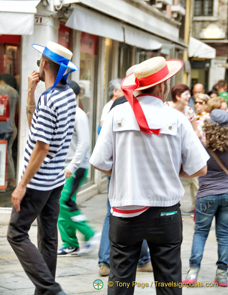 Gondoliers touting for business