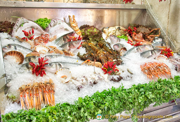A beautiful seafood display