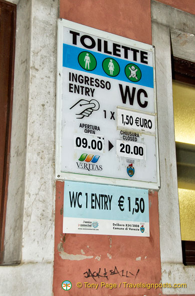 Cost and operating hours of the public toilet