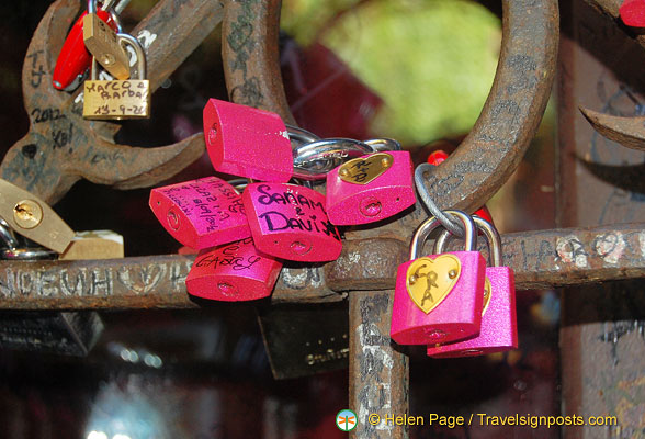 Sealing your love with padlocks at Juliet's House