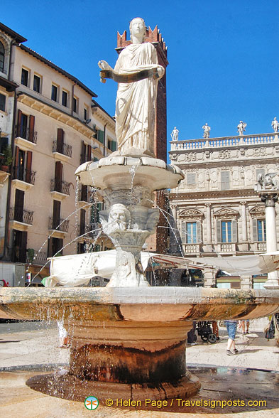 Madonna Verona fountain in Piazza Erbe