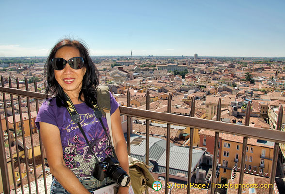 Me, at the top of Torre dei Lamberti
