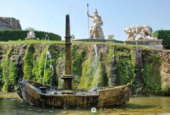 Rometta Fountain with all the symbols of Rome