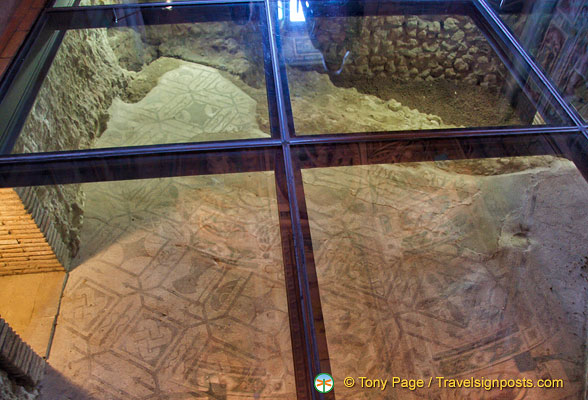 Mosaic flooring from Roman and Medieval times