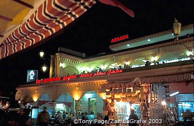 Argana Cafe on the Djemaa el Fna square