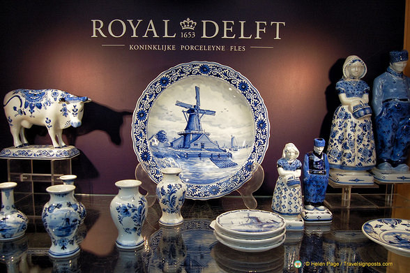 Examples of Royal Delft pottery