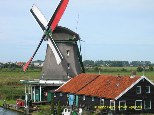 One of the windmills at Zaanse Schans
