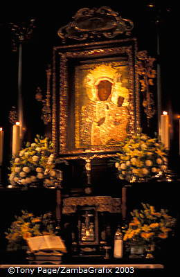 Black Madonna at the Jasna Gora Monastery