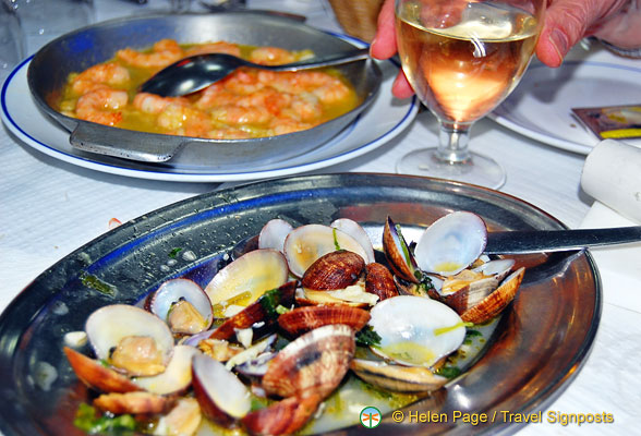 Clams and prawns