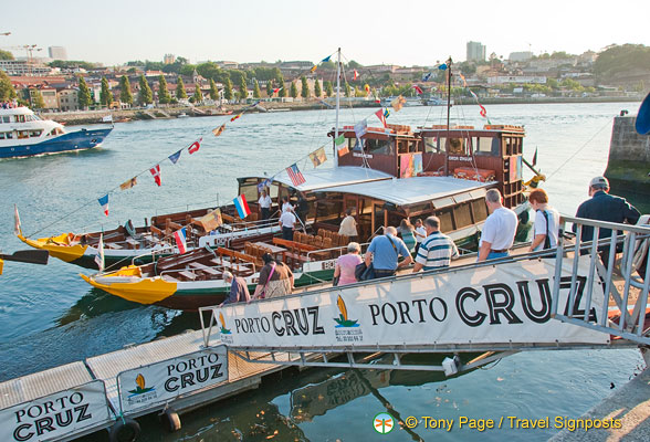 Embarking on our Douro River cruise in Porto