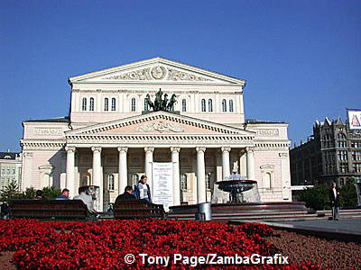 Bolshoi Theatre, home to The Bolshoi Ballet, was opened in 1780