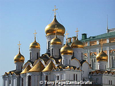 Cathedral of the Annunciation with its golden onion domes