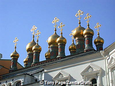 Eye-catching onion shaped domes of the Church of the Deposition of the Robe