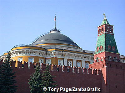 Senate Tower - There are 19 towers in the walls of the Kremlin