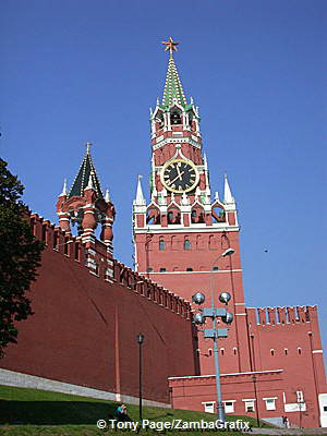 Saviour's Tower, once the main entrance to the Kremlin