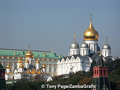 In Imperial times, the cathedrals were a setting for state occasions such as coronations, The Kremlin