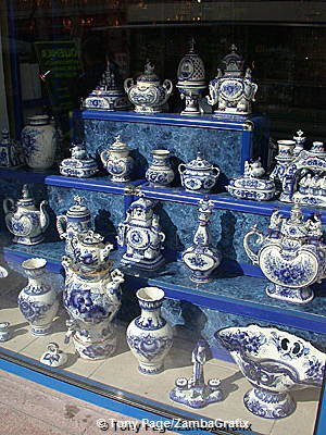 Traditional blue and white ceramic ware