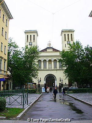 Twin-towered Lutheran church dedicated to St. Peter in Nevskiy Prospekt